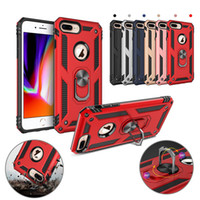 Wholesale car iphone cases red for sale - Cell Phone Case Magnetic Car Ring Holder Standable Hard Back PC Armor Case For iPhone X XS MAX Samsung S10 S10e Plus