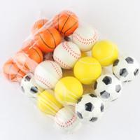 éponge en mousse douce achat en gros de-Chien de compagnie Jouet Sponge Balls 6.3cm Doux PU Mousse Ball Déballer le jouet nouveauté pet Toys Pour Enfants T2G5033