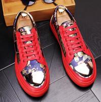 балетная обувь оптовых-Новый список высокого качества мужчины вождения обувь балетки печать черный повседневная обувь мокасины на плоской подошве бесплатная доставка 407