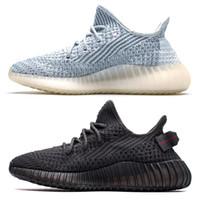 ingrosso k tedesco-Glow nelle scarpe scure Citrin V2 Kanye West nuvola bianca Cream Triple Nero Statico Argilla True Form Hyperspace allevati Zebra Lundmark Sneakers