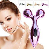 3d rolle großhandel-3D Roller Massagegerät Y Form Gesicht Abnehmen Stick Manuelle Roller Massagegerät Gesichtsschönheit Instrument Facelifting Werkzeuge RRA976