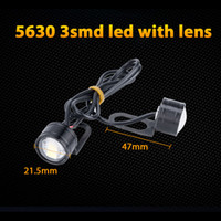 Wholesale universal projector headlight motorcycle for sale - Group buy 10X SMD Led Motor Projector Len Spotlight Handlebar Led Headlight White Fog Light Daytime Running Motorcycle Headlamp White Eagle Eye