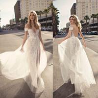 Wholesale berta bridal for sale - Group buy Berta Wedding Dresses vestidos de noiva V Neck Backless Bridal Gown Split Side Mermaid Lace Bohemian Wedding Dress Custom Made