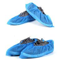 botas descartáveis venda por atacado-THINKTHENDO 100 Pcs Sapatos Bota Cobre Tecido Galochas Descartáveis Médicas Piso Tapete Interior Azul Não-tecido Sapato