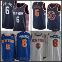 80b7c14b750 18-19 Season New York Men Knicks Jerseys Kristaps Porzingis Drazier Patrick  Ewing City Jersey Edition Free shipping