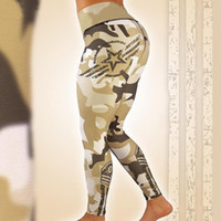 Wholesale thin yoga pants for sale - Group buy Women s Running Thin Sports Pants Fitness Camouflage Leggings Tight Yoga Pants Stretched Gym Sportswear Athletic Trouser Star Printing g