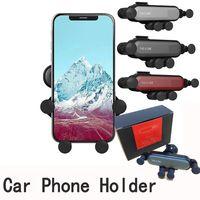 lüftungshalter großhandel-Schwerkraft-Autotelefonhalter in den Halterungen der Auto-Belüftungsöffnung für iphone X Xs maximales Samsung S9 Xiaomi Huawei-Handy-Standplatz