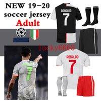 melhores camisas venda por atacado-2018 2019 2020 juve Juventus melhor qualidade Jersey kit conjuntos completos + meias HIGUAIN DYBALA Ronaldo camisas de futebol em casa camisas de futebol Frete grátis