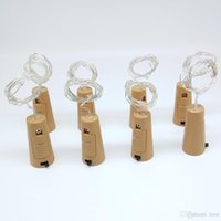 Wholesale round wire glasses for sale - Group buy Bottle light string leds meters sliver wire with Bottle Stopper for Glass Craft Wedding Decoration and party light