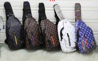sling bag sporu toptan satış-Erkekler Göğüs Sling Sırt Çantası Çapraz vücut Omuz Çantası Spor Paketi Kılıfı Satchel XXLLouis Vuitton