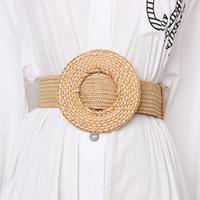 Wholesale braided belt women for sale - Group buy 2019 Wide Round Weaving Buckle Waistband Women New Elastic Knitted Braided Waist belts Strap Bohemian Style Dress Belt Ceinture