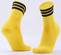 sobre los calcetines de rodilla hombres al por mayor-Deportes calcetines hasta la rodilla medias legging Fútbol Béisbol Fútbol sobre la rodilla del tobillo de los hombres calcetines caliente Dropshipping Venta