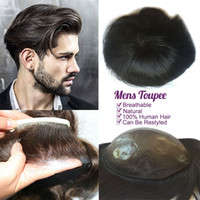 perucas pele fina venda por atacado-Peruca De Cabelo dos homens 10