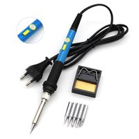 Wholesale solder electronics resale online - 60W V Electric Soldering Iron Kit with Tips Power Switch Adjustable Temperature Welding Tool EU Plug for Electronics Work