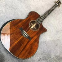 Wholesale tobacco guitar resale online - Top Quality Natural Acoustic Guitar Top Musical instruments electric guitar