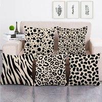 preto travesseiro animal venda por atacado-45 cm * 45 cm Preto animal textura linho / algodão throw pillow covers sofá capa de almofada home decor travesseiro