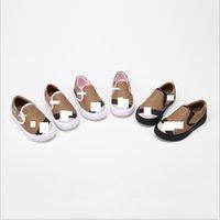 Wholesale stripe pattern flat shoe for sale - 21 Flat Canvas Shoes Stripe Plaid Pattern Kids Casual Shoes