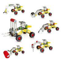 guindaste de brinquedo de construção venda por atacado-Assembléia 3D metal Engenharia Modelo Veículos Kits Toy Car guindaste do caminhão da máquina escavadora da escavadora Edifício Puzzles Construção Play Set C4116