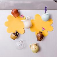 ingrosso vaso di porcellana da regalo-Mini ceramica Vaso Magnete per frigorifero Vaso in porcellana Fai da te Magnete per frigorifero Adesivo per messaggi 8 Disegni Pianta verde su regalo da cucina