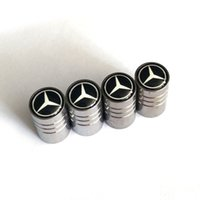 tampas de válvula de carro venda por atacado-4pcs / set pneu de carro tampa de válvula do pneu da roda Air Hastes Covers Logo Car Distintivos emblemas para Mercedes-Benz Car Styling