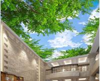 ingrosso 3d cielo murale-WDBH 3d carta da parati foto personalizzata Cina mappa nuvola HD blu cielo soffitto murales camera home decor 3d parete camera murales carta da parati per pareti 3 d
