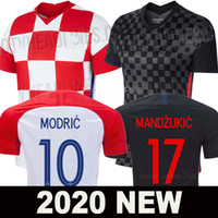 aaa fußball trikots groihandel-2020 Kroatien Fußball Trikot Welt Cup Croatia Hrvatska MODERN MANDZUKIC RAKITIC soccer jersey football shirts PERISIC KALINIK SRNA KOVACIC Nationalmannschaft Fußball Shirt AAA Thai