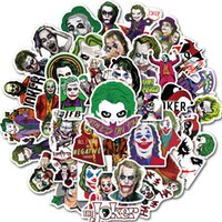 Wholesale cartoon mixed sticker resale online - 50pcs Set Mixed Movie The Joker Cartoon Stickers Car Motorcycle Travel Luggage Phone Guitar Fridge Laptop PVC Waterproof Toy Sticker