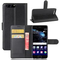 huawei mate mini großhandel-Lichee Pattern Wallet PU Ledertasche für Huawei P10 Mate20 Mate 20Pro Note10 P20Lite P30Pro P30 Y9 Y7 Mini Slot Card Wallet Stil