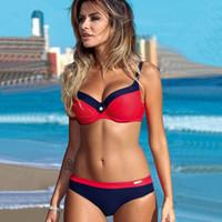 ingrosso giochi bikini-Yicn 2018 nuove donne sport costume da bagno sexy bikini set beach game costumi da bagno costume da bagno brasiliano bikini push up reggiseno costume da bagno y19052101