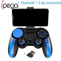 ipega juego ios al por mayor-iPega PG-9090 Bluetooth Gamepad Controlador de juegos inalámbrico para Android IOS Xiaomi Iphone Smart Tv Pubg Controlador de juegos Joystick Consola de juegos