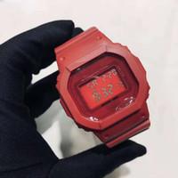 ingrosso marche di orologi intelligenti-Marchio di lusso orologio GW stile 5000 impermeabile LED intelligente orologi Shcok Sport uomo cinturino in caucciù nero da polso DropShiping buon regalo per l'uomo