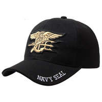 Wholesale High Quality Mens Famous US NAVY Brand Baseball Cap Navy Seals Cap Tactical Army Cap Trucker Gorras Snapback Hat For Adult