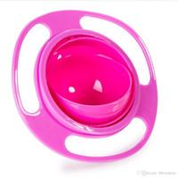Wholesale baby spill rotating bowl resale online - 2017 New Avoid Food Spilling Rotating Baby Kid Non Spill Feeding Toddler Gyro Bowl