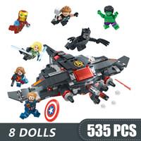 Wholesale diy toys for girls resale online - 535PCS Small Building Blocks Compatible with Legoe In Marvel Avengers endgame Toys for children girls boys Gift DIY