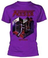 lila herzmetall großhandel-Akzeptiere 'Metal Heart' (Lila) T-Shirt - NEUER OFFIZIELLER!