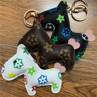 Wholesale horse cartoons for sale - Group buy New Brand Keychains Ring PU Leather Cartoon Flower Pattern Horse Design Fashion Car Key Chain Holder Animal Bag Charm Jewelry Accessory