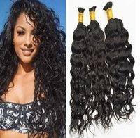 Wholesale european wave braiding hair resale online - Peruvian Hair Bulks Water Wave Unprocessed Human Hair Bulk for Braiding Extensions per