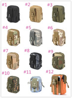 Wholesale tactical phone holsters for sale - Group buy outdoor sports molle tactical pockets colors waterproof outdoor Bags Waistpacks camouflage running mobile phone Pouch Holster free