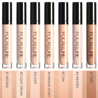 Wholesale natural full coverage makeup for sale - Group buy FOCALLURE Eye Concealer Base Colors Full Coverage Suit for All Color Skin Face Eye Makeup Liquid Concealer Face Makeup