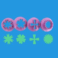 Wholesale fondant flowers plungers resale online - Rose Flower Plastic Cake Plunger Cutter Cookie Molds Cup Cake Icing Decorating Fondant Flower Mold