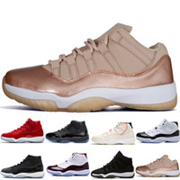 ingrosso migliori scarpe da basket-2019 Novità 11 Space Jams Bred Number 45 Best New Concord Scarpe da basket Uomo Scarpe donna 11s Gym Red Navy Gamma Blue 72-10 Sneakers designer