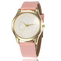 Wholesale women bow watches for sale - Group buy Fashion Women Analog Bow Style Bracelet Quartz Wrist Watch Lady Geneva Leather Dress Watch