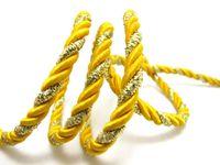 ingrosso cordone artigianale giallo-CLEARANCE | 5 Yards 5mm Corda gialla e dorata Corda | Corda | Corda | Corda decorativa | Corda | Forniture artigianali