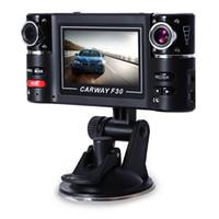 infrarot-lichter für nachtsicht großhandel-Doppelobjektiv 2,7 Zoll 1280 x 720 Auto Dash Cam 8 Infrarot Lichter Nachtsicht Auto Camcorder Auto DVR Kamera Unterstützung Bewegungserkennung