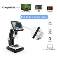 polegar do microscópio venda por atacado-4.3 Polegada 50 / 1000X HDMI USB Microscópio Digital Portátil