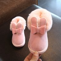 Wholesale children shoes girls years resale online - Children Girls Snow Boots Solid Cute Princess Thick Plush Warm Slip On Shoes Cotton Kids for Years Old Winter Shoes