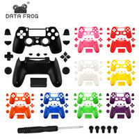 Wholesale housing full case for sale - Group buy Data Frog Replacement Full shell and buttons mod kit for PS4 Slim Gamepad Protection Case For jds PS4 Slim Pro Housing Cover