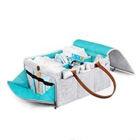 Wholesale eco friendly diapers for sale - Group buy Travel And Home Diaper Storage Bag Large Capacity Handheld Felt Eco Friendly Durable Easy To Carry Foldable Detachable Cleaning