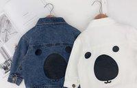 ayı kıyafeti toptan satış-Sıcak tarzı çocuk giyim erkek bebek kot ceket bahar 1-3 yaş arası çocuk kot ceket ceket ayı ceket