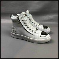 горячий человек моды p оптовых-Мода стиль высочайшее качество модель p обувь Горячие продажи бренда Мужчины Натуральная Кожа ткань Высокое качество Обувь Размер eu38-44 бесплатная доставка # 564